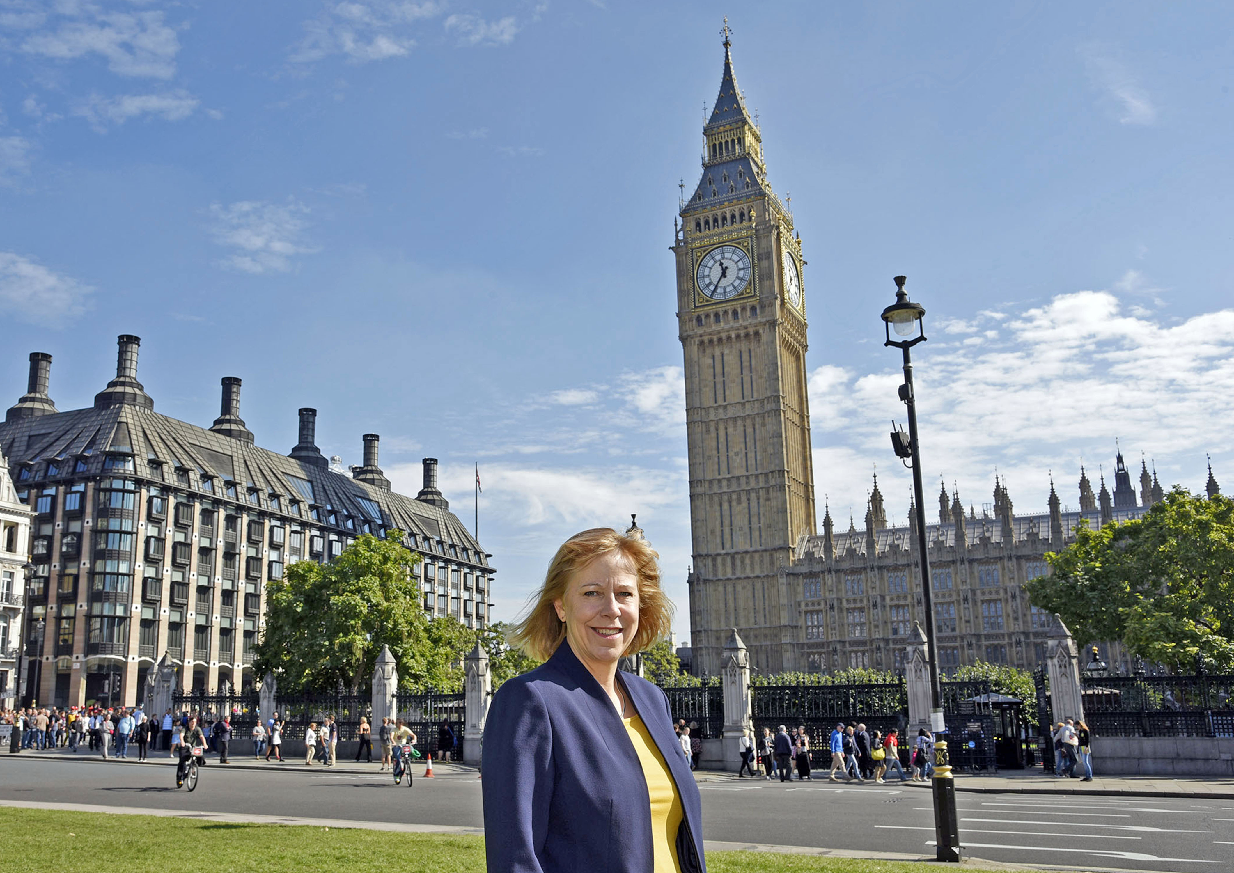 Ruth standing outside Big Ben